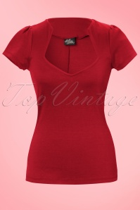 50s Sophia Top in Red