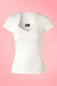 50s Sophia Top in Ivory