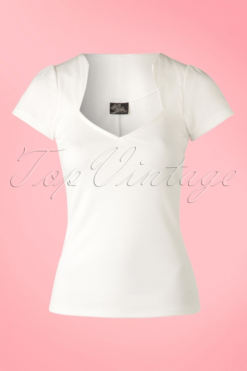 Steady Clothing Clothing 50s Sophia White Top 111 50 15107 20150415 0009W