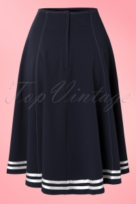 Miss Candyfloss 50s Mollys Sailor Skirt Ahoy Navy 51 4571 20130311 0006W