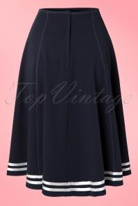 Miss Candyfloss 50s Mollys Sailor Skirt Ahoy Navy 51 4571 20130311 0006W