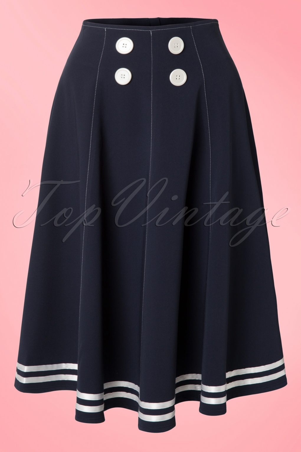 1950s Skirts for Sale: Poodle, Pencil, and Circle Skirts 50s Mollys Sailor Skirt Ahoy Navy £54.29 AT vintagedancer.com