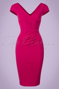 Vintage Chic Scuba Crepe Magenta Pencil Dress 100 22 20981 20170123 0021W