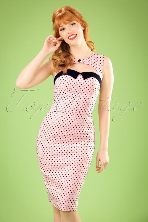 Bunny Pink polkadot Pencil Dress 100 29 21067 20170120 0002W