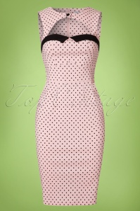 Bunny Pink polkadot Pencil Dress 100 29 21067 20170120 0001W