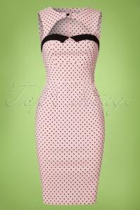 Bunny Pink polkadot Pencil Dress 100 29 21067 20170120 0001W