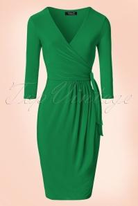 Vintage Chic Side Tie Wrap Dress 100 20 21183 20170223 0002W