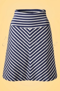 50s Borderskirt Breton in Stripe Nuit