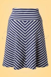 King Louie 60s Sailor Striped Navy Blue Skirt  107 39 13868 20150211 0002W