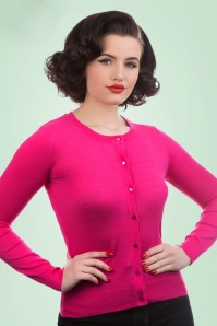 50s Ava Cardigan in Fuchsia