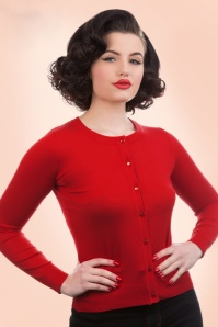 50s Ava Cardigan in Lipstick Red