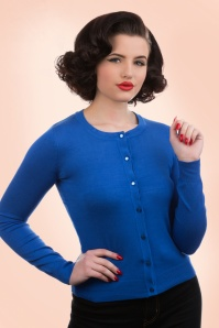 50s Ava Cardigan in Midnight Blue