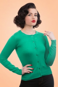 50s Ava Cardigan in Aqua Green