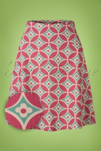 King Louie Border Skirt Green Red Flowers 123 57 20214 20170119 0003wv