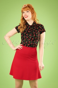 50s Borderskirt Milano in Red