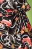 Victory Parade Rita Capsleeve Black Koi Japanese Print Dress 100 14 20043 20161019 0008