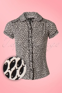 King Louie Ocean Black Fish Blouse 112 57 20272 20170227 0001W1