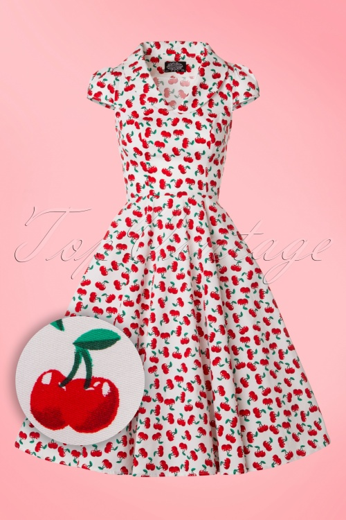 Hearts & Roses White Cherry Swing Dress 102 59 21468 20170224 0003W1