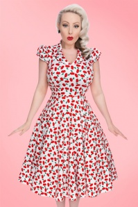Hearts & Roses White Cherry Swing Dress 102 59 21468 20170224 001