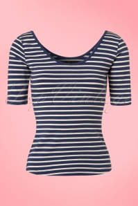60s Ballerina Breton Top in Nuit Blue