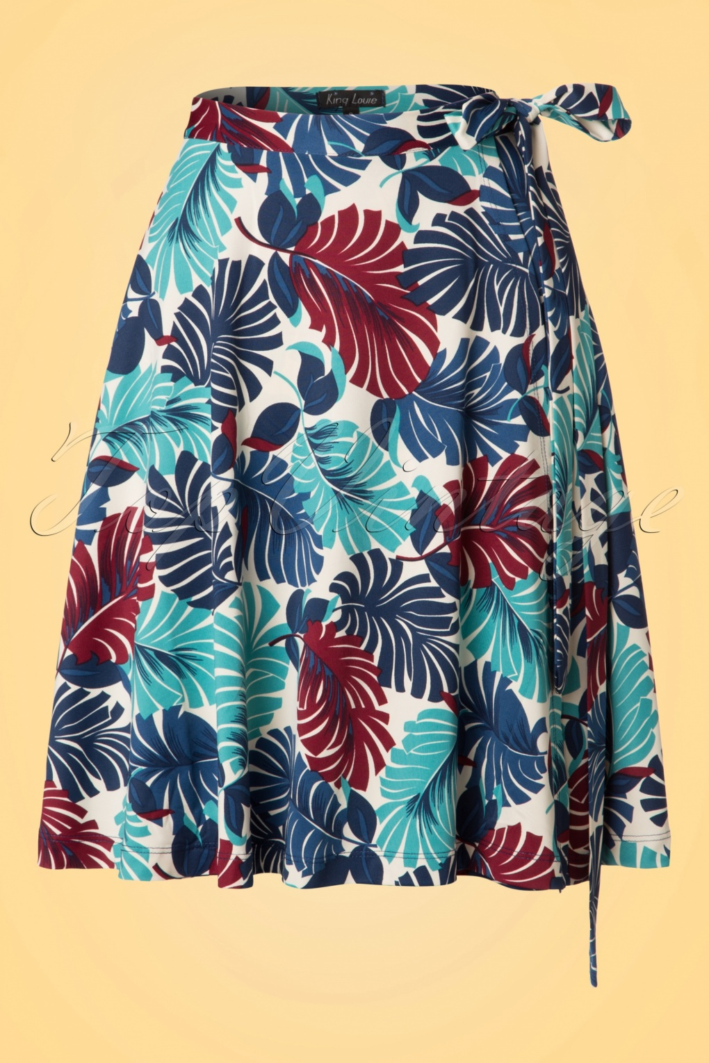 Retro Skirts: Vintage, Pencil, Circle, & Plus Sizes 60s Tropicana Wrap Skirt in Cream £67.90 AT vintagedancer.com