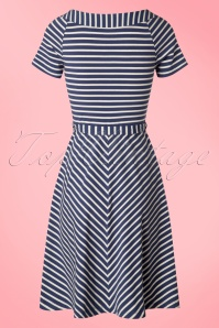 King Louie Blue Sailor Striped Skater Dress 102 39 20249 20170228 0008w