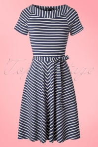King Louie Blue Sailor Striped Skater Dress 102 39 20249 20170228 0003w