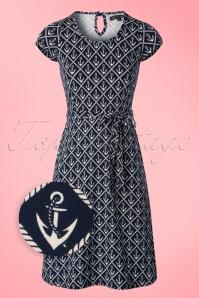 King Louie Ella Sailor Dress in Navy 106 39 20269 20170301 0002wv