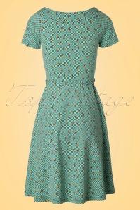 King Louie Green Skater Dress Cherry's  102 49 20246 20170301 0008W