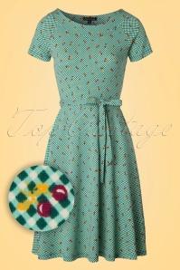 King Louie Green Skater Dress Cherry's  102 49 20246 20170301 0003W1