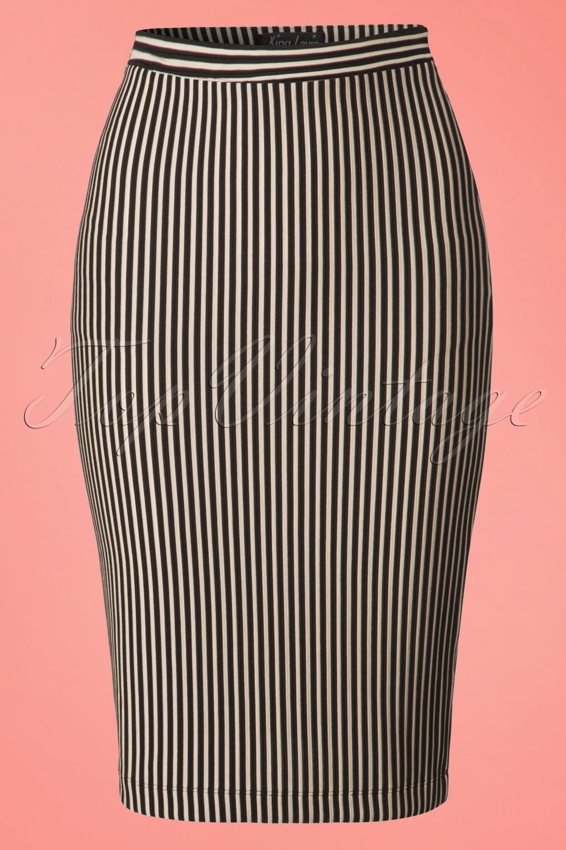 1960s Style Skirts 60s Lila Ottoman Tube Skirt in Cream £51.50 AT vintagedancer.com