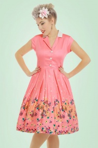 Lindy Bop Gilda Pink Bicycles Swing Dress 102 22 21239 20170301 1