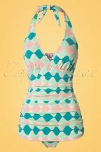 Bettie Page  Blue Pink Bathing Suit  20857 20161223 0007w