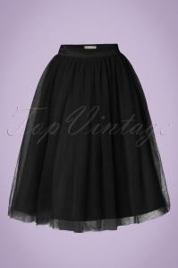 50s Edie Tulle Swing Skirt in Black