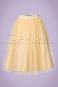 50s Edie Tulle Swing Skirt in Champagne