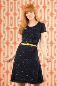 60s Beth Paris Dress in Navy