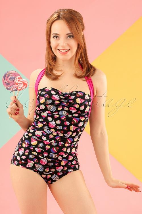 Girlhowdy Black Cupcake Bathing Suit 161 14 16939 20151217 0010w
