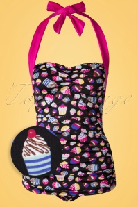 Girlhowdy Black Cupcake Bathing Suit 161 14 16939 20151217 0005W1