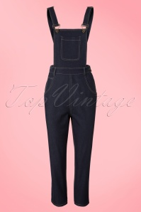 50s Coco Denim Dungarees in Navy