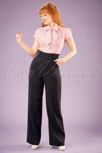 Miss Candyfloss Black Vintage Trousers 131 10 16256 20151203 1W