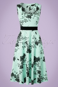 Vintage Chic Veronica Mint Dress Flower Print 102 39 19387 20160629 0003W