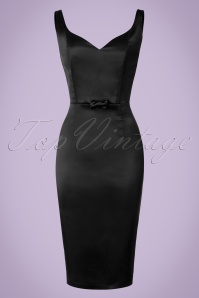 Collectif Clothing Primrose Plain Pencil Dress in Black 20794 20161125 0006w
