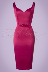 Collectif Clothing Primrose Plain Pencil Dress in Pink 20795 20161125 0006w