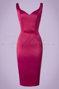Collectif Clothing Primrose Plain Pencil Dress in Pink 20795 20161125 0006w