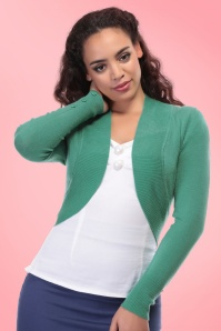 Collectif Clothing Jean Bolero in Antique Green 20640 20161125 0013
