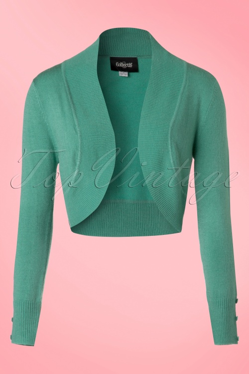 Collectif Clothing Jean Bolero in Antique Green 20640 20161125 0007w
