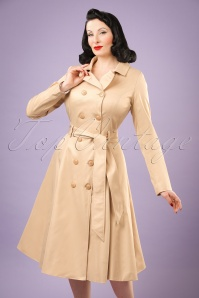 Collectif Clothing Korrina Swing Trenchcoat in Beige 20790 20161130 0011w