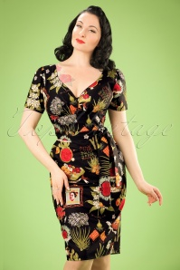 TopVintage Exclusive ~ 60s Rita Viva Frida Dress in Black