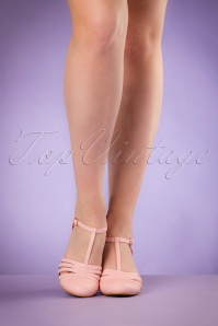 Bettie Page Shoes Lucy Pink T strap Pumps 401 22 19952 02232017 008W