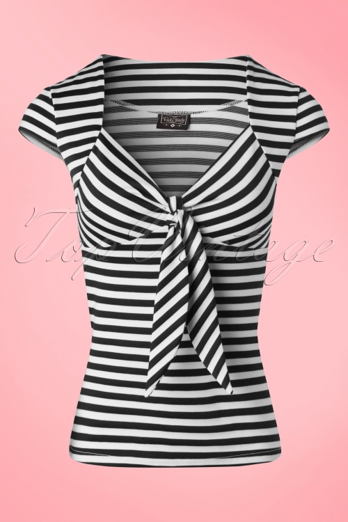 Steady Clothing Striped Sweetheart Shirt Black White 20877 20160503 0007
